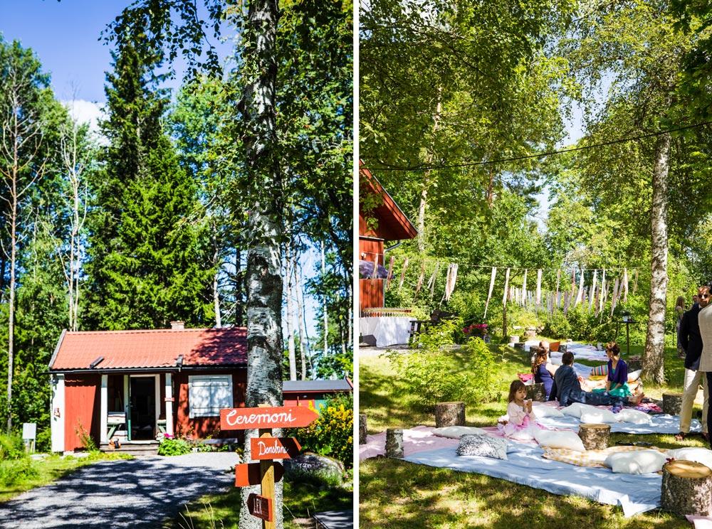 Sahra and Erik's DIY outdoor wedding in Sweden