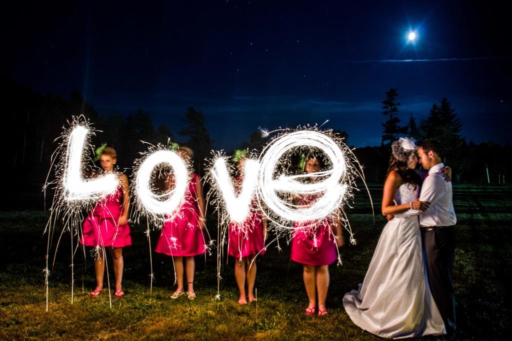 Sparkler wedding letters