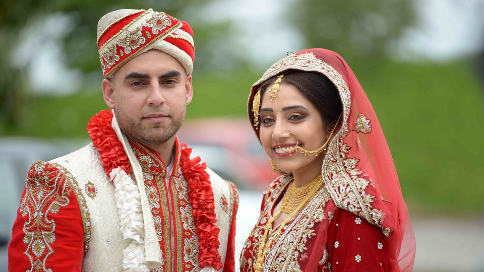 Newly married Indian couple