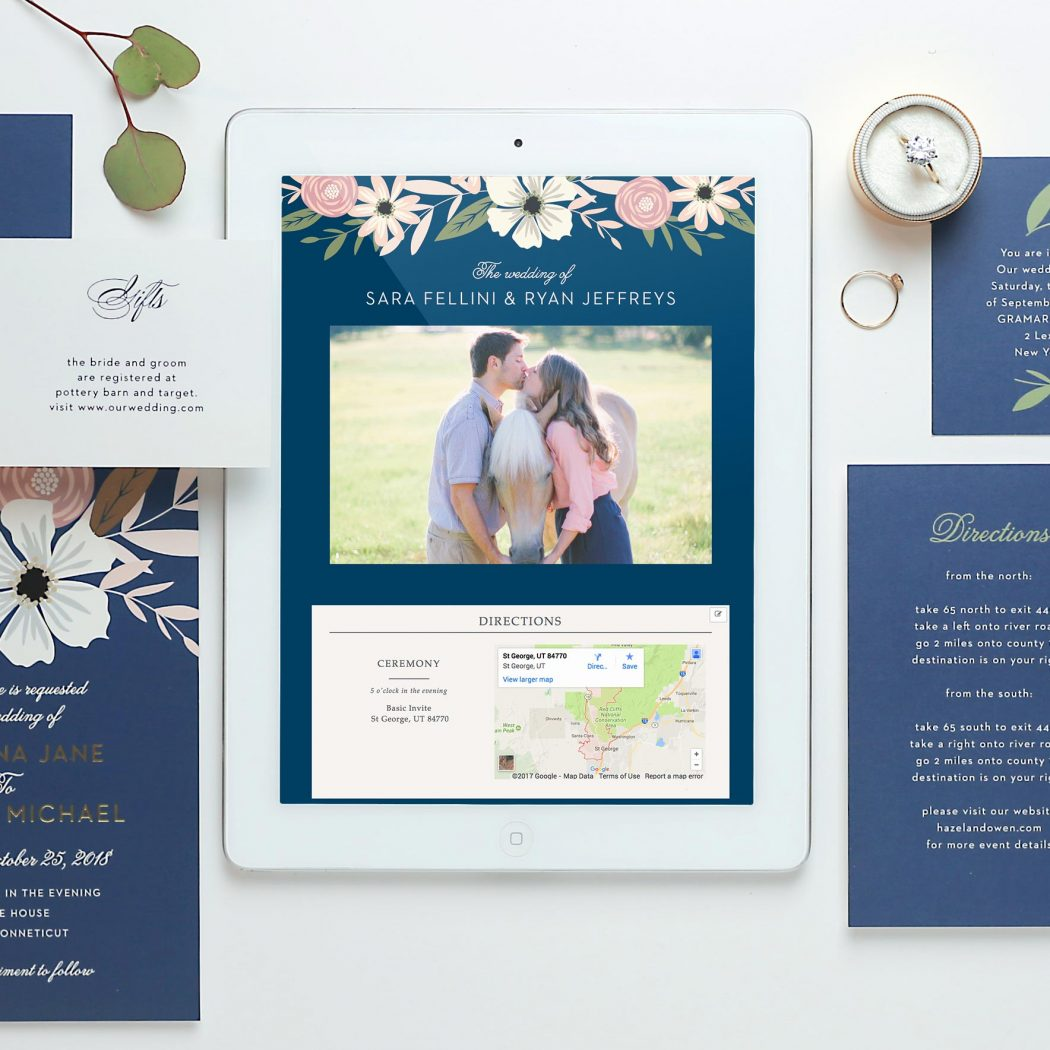 Free wedding website by Basic Invite