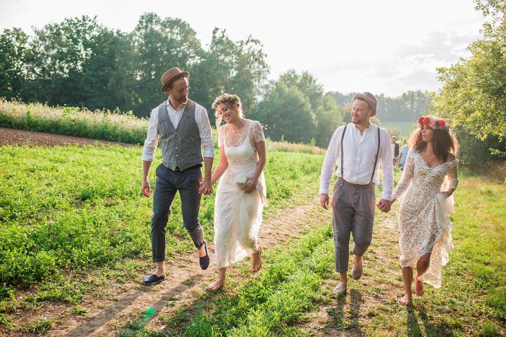 Bavarian double wedding