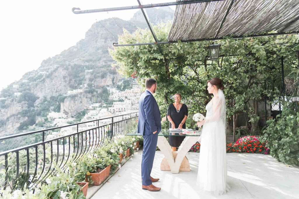 Italian elopement in Positano