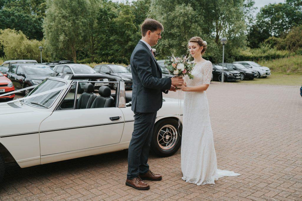 Triumph classic wedding car
