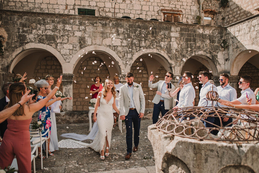 Outdoor wedding in a Croatian Island of Hvar