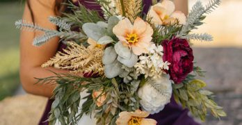 Sola wood flowers or silk flowers for a wedding