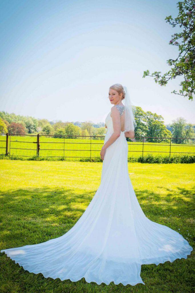 Bridal portrait taken on a wedding day