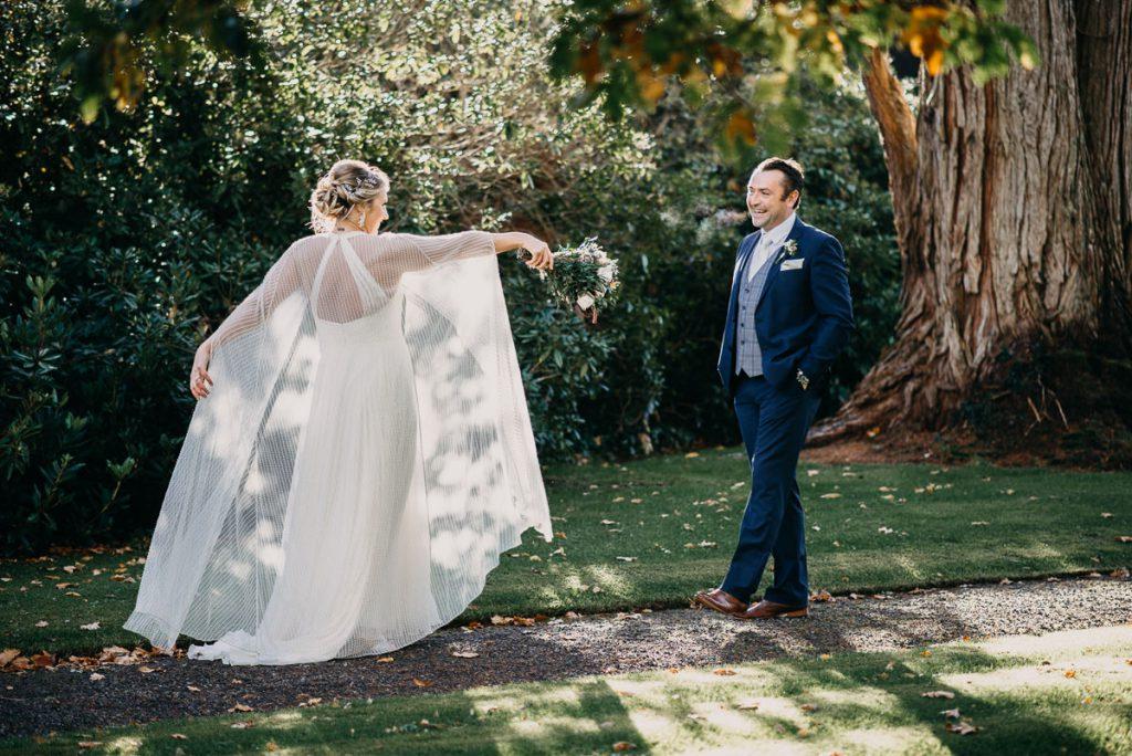 Newly married couple celebrating at a wedding venue in Sligo
